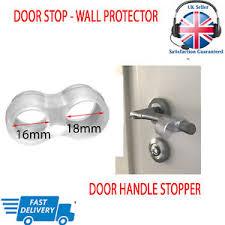 image is loading wall protector door handle stop rubber fixing free
