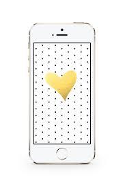 White Dots + Gold Foil Heart ...