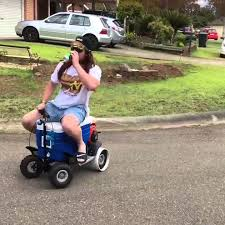 motorised cooler scooter drifting in australia