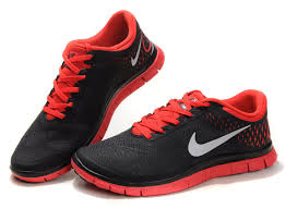 nike running shoes for men black and red. nike free run 4.0 v2 running shoe mens black university red shoes for men and t
