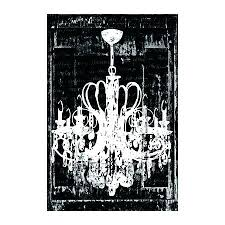 black and white chandelier canvas art print in wall canv