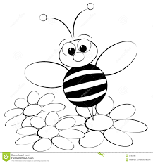 Free Download Bumble Bee Coloring Page