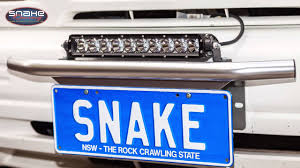 Licence Plate Led Light Bar Led Light Bar Number Plate Mount Kit Snake Racing