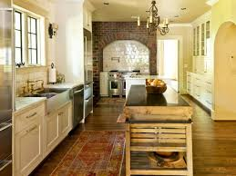 Shabby Chic Country Kitchen Design Stunning Country Kitchen Design Faux Brick Decorative
