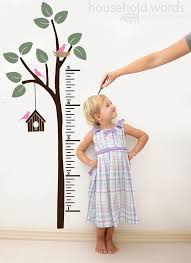 Wooden Growth Chart For Girls Growth Chart Decal For Walls Growth Chart Wall Decal Ruler
