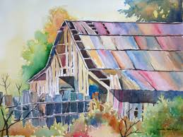 colorful old barn