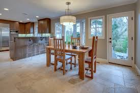 dining room tile flooring. dining room with patterned travertine tile floor cool flooring i