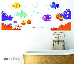 decor kafe underwater decal fishes sticker ocean wall stickers