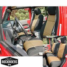 4 door neoprene seat covers set black