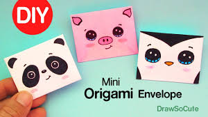 how to make girly things out of paper how to make a mini origami envelope super easy youtube