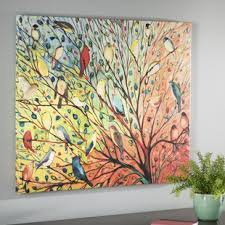 twenty seven birds jennifer lommers graphic art print on wall picture artwork with oversized wall art you ll love wayfair