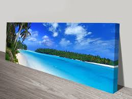 incredible design ideas beach wall art amazing long canvas panoramic print decor for bathroom australia