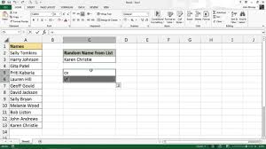 Seating Chart Randomizer Pick A Name At Random From A List Excel Formula