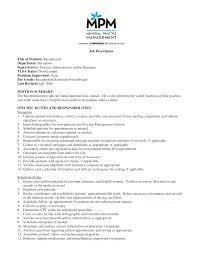 best photos of veterinary receptionist job description receptionist job description medical receptionist