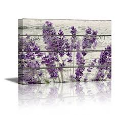 wall26 canvas prints wall art retro style purple flowers on vintage wood background rustic home on canvas wall art purple flowers with amazon wall26 canvas prints wall art retro style purple