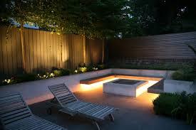strip lighting under timber seating