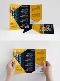 Simply Yellow Trifold Brochure Template Indesign Indd
