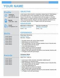 Professional Business Resume Template Stunning Gallery Of Conservative Professional Business Resume Template
