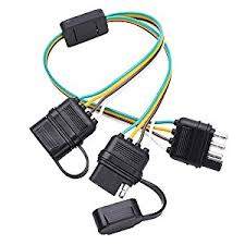 wiring harness for trailer lights automotive parts online com mictuning universal 4 way flat y splitter plug play adapter extension harness for led