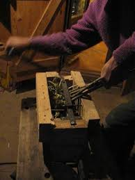picture of quick made hand cranked compost shredder
