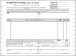 Short Form Bill Of Lading Template Straight Bills Of Lading Short Form 3 Or 4 Part Blcc004 S Grp