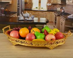 How To Decorate Fruit Tray gold plated metal round severing trays design fruit plates fruit 24