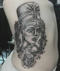 Egyptian Queen Tattoo Rib Egypt Pinterest Tattoos Nefertiti Best