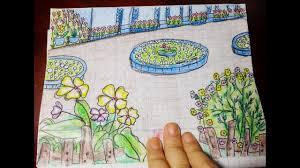 Vẽ Vườn Trường Mơ Ước Đơn Giãn Nhất/ Vẽ Khu Vườn Mùa Xuân Sắc Màu - YouTube