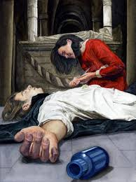 Image result for romeo and juliet death scene painting