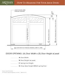garage door heightHow To Measure For New Arched Garage Doors  ARTISAN