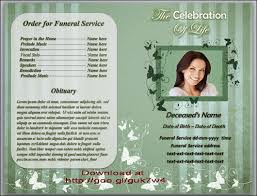 Funeral Program Word Template Magnificent Butterfly Funeral Order Of Service Program Template For Microsoft