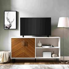 a large mid century modern tv stand