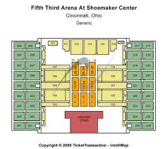 5th 3rd Arena Seating Chart Fifth Third Arena Tickets In Cincinnati Ohio Fifth Third