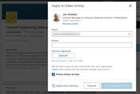 How To Email A Resume Linkedin Easy Apply What Employers See When You Apply On