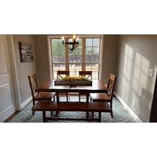 the gray barn pitchfork 6 piece antique brown dining set with bench ships to canada overstock ca 20558987