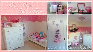 Pink Minnie Mouse Bedroom Decor Baby Nursery Decor Kids Name Katie Baby Minnie Mouse Nursery