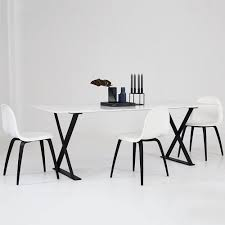 dining chair white black