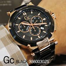 gc guess collection watch men s chronograph black pvd bracelet gc guess collection watch men s chronograph black pvd bracelet 44mm x66003g2s