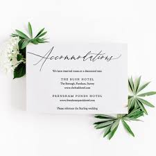 Accommodations Card Template Printable Accommodation Card Wedding