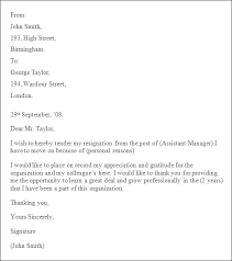 Letter Of Resignation Templates Word Resignation Template Word Document Professional Letter Doc