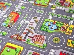 play rug with roads children village mat town city x kids foam street road made love toy car play rug kids girls road