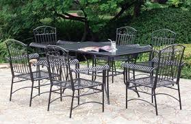 furniture amazing wrought iron patio dining set 13 victorian cast vs aluminum white outdoor wrought iron