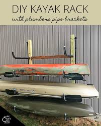 diy kayak rack for home storage