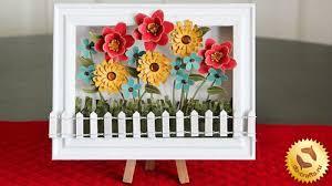 Paper Flower Frame Diy Home Decor How To Make A Frame Paper Flowers Handmade4all