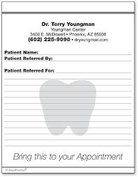 dental referral form template referral pads smartpractice dental