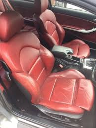 bmw 3 series e46 m3 coupe red leather interior seats doorcards