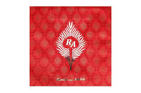wedding card red and golden morpankh design with sweet box Wedding Card With Sweet Box royal wedding card red and golden morpankh design with sweet box indian wedding cards with sweet box