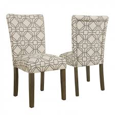 home dining chairs homepop parsons chair grey lattice set of 2 k6805 a825 y220 pair