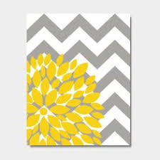 flower bursts botanical print 11 x 14 grey chevrons and yellow on yellow and grey wall art canvas with diy grey and yellow canvas art to go in my new guest room