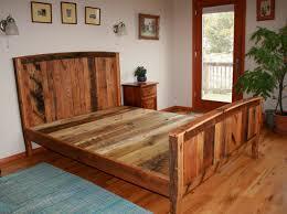 diy rustic bed frame